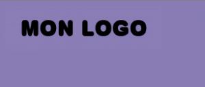 Logo sur fond de couleur