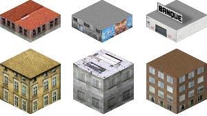 Bâtiments en 2D isométrie