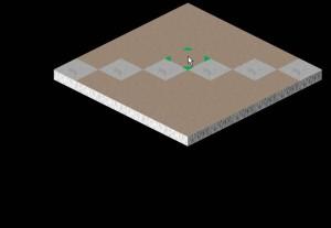Carte 2d isométrique avec curseur