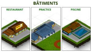 Virtual Golf Club - exemple de bâtiments